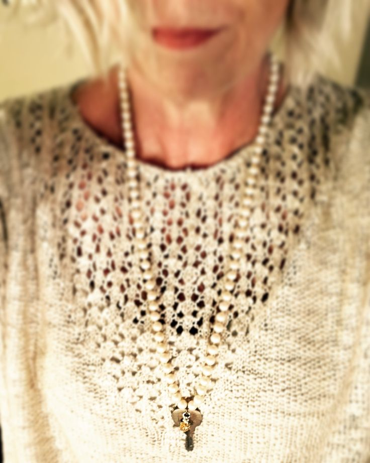 Heirloom collection - vintage find - simple elegance. Anchored collective. Sweater from Sweet {Jolie}