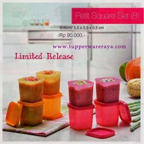 Promo Tupperware April 2014 - Petit Square Set