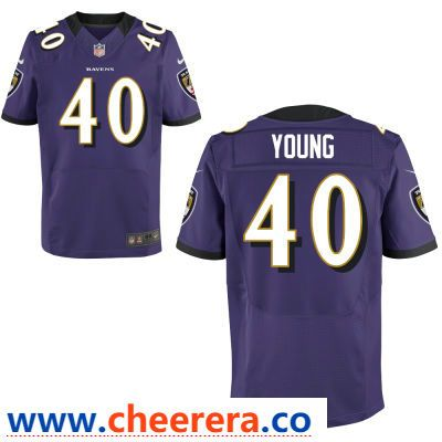 Men s Baltimore Ravens  40 Kenny Young Purple Team Color Stitched NFL Nike  Game Jersey 969a6d51a