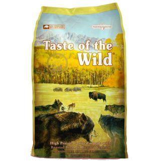 Pienso Taste of the Wild High Prairie para perros adultos es una fórmula libre de cereales y elaborado con visonte y carne de venado asado. Alimento 100% natural para perros.