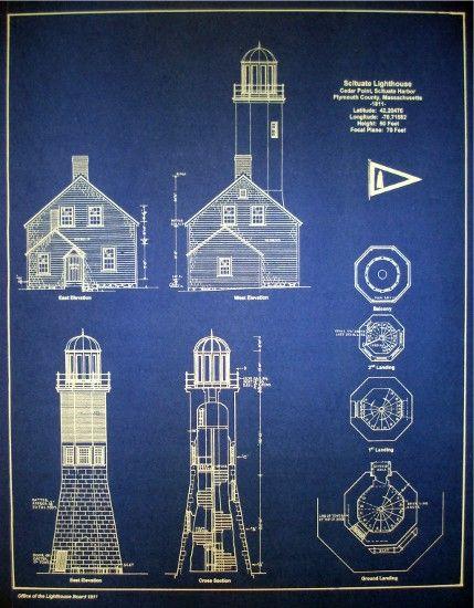 67 best blueprint images on pinterest bedrooms blue prints and lighthouse blueprints malvernweather Images