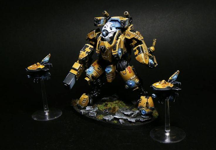 Warhammer 40k | Tau | Battlesuit #warhammer #40k #40000 #wh40k #wh40000…