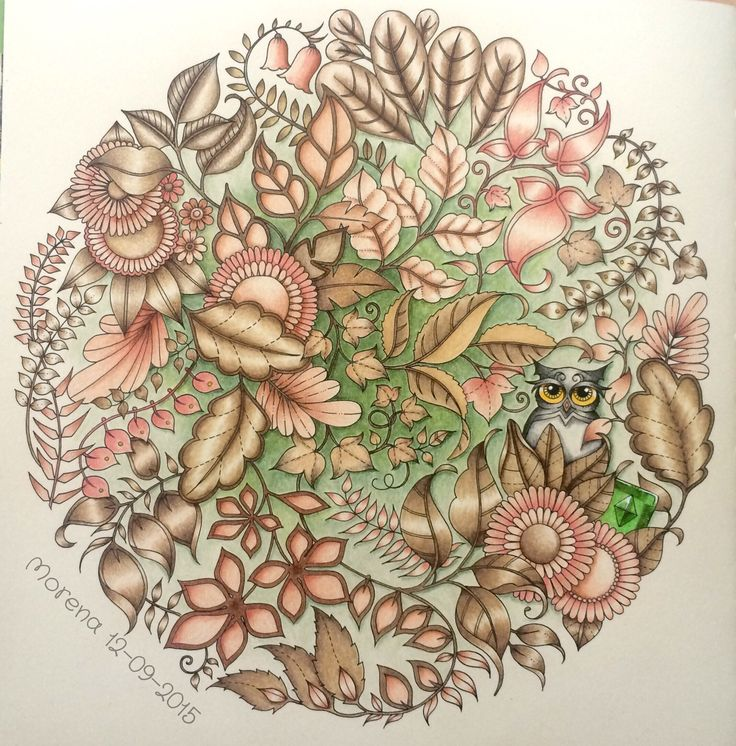 Coloured By Morena Vajak Find This Pin And More On Coloring Johanna Basford Secret Garden