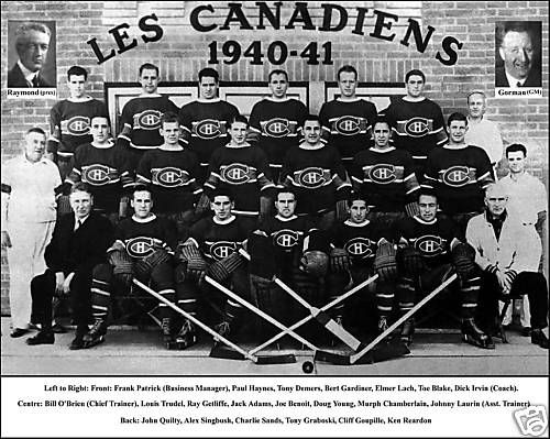 "Montreal Canadians ""Les Canadiens"" 1940-1941."