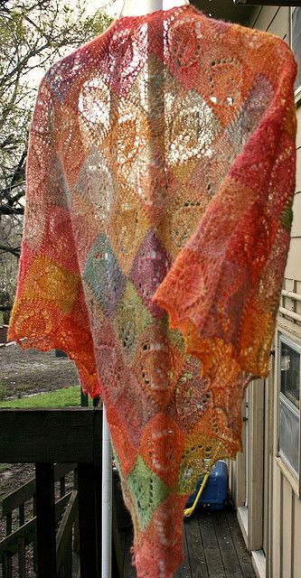 I'm making a version of this shawl. Not sure what I'll do with it when I'm done ...