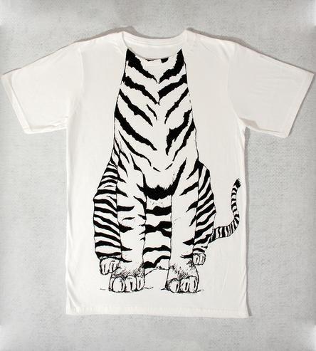 White Tiger Body T-Shirt