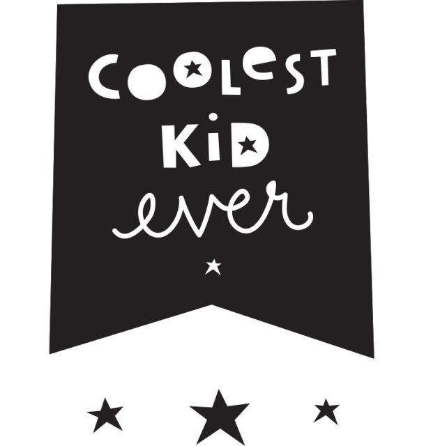 Coolest Kid Ever - Wall Stickers - Featured Products - Bea and The Boy