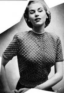 Crochet sweater pattern.  I think this would be an interesting challenge to make something to wear that's _not_ an accessory.: Sparkle Sweaters, Crochet Vintage, Free Crochet, Sweaters Patterns, Crochet Sweaters, Vintage Patterns, Vintage Sweaters, Vintage Crochet Patterns, Free Patterns