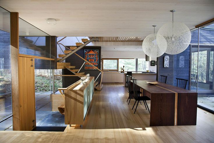 Off the Tracks / Gray Organschi Architecture – nowoczesna STODOŁA | wnętrza & DESIGN | projekty DOMÓW | dom STODOŁA