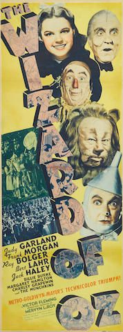 The Wizard of Oz Metro-Goldwyn-Mayer, 1939. Insert poster.