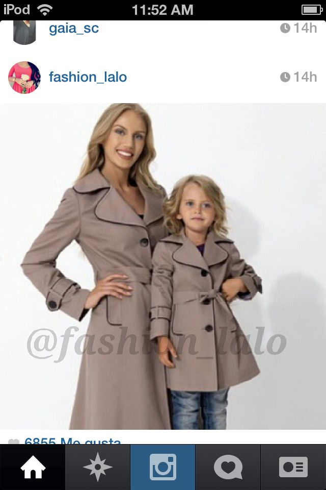 Cute mum and daughter fashion!