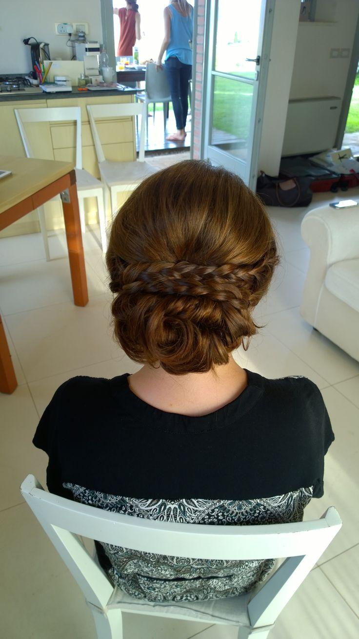 braided updo byJanita Helova Rome italy www.janitahelova.com