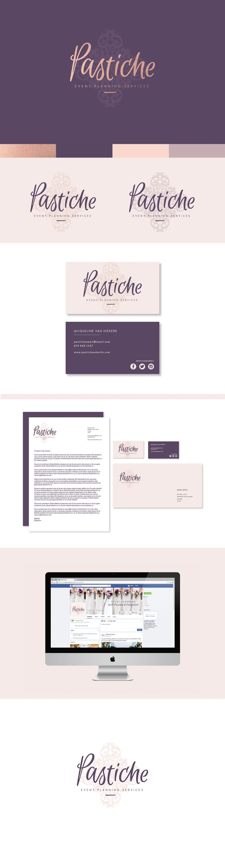 Logo design and identity for Pastiche Event Planning Services