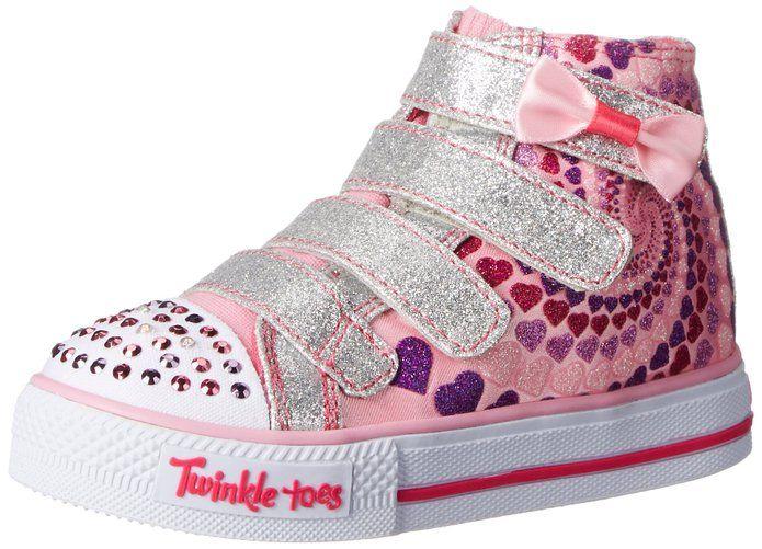 Skechers Kids Twinkle Toes Shuffles Lil Skippers Light-Up Sneaker (Toddler/Little  Kid