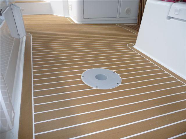 182 best synthetic teak decking images on pinterest teak for Non wood decking material