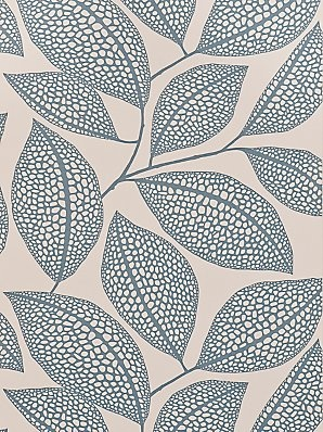 MissPrint Pebble Leaf Wallpaper, Blue, MISP1039