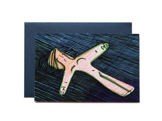 Rest-Art print-Postcard by Pionara on Etsy