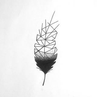 Tattoo • Geometric • Carved Leaf • Drawing •