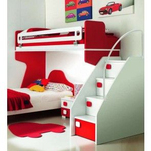 letto a castello con scala a cassettoni - Google Search