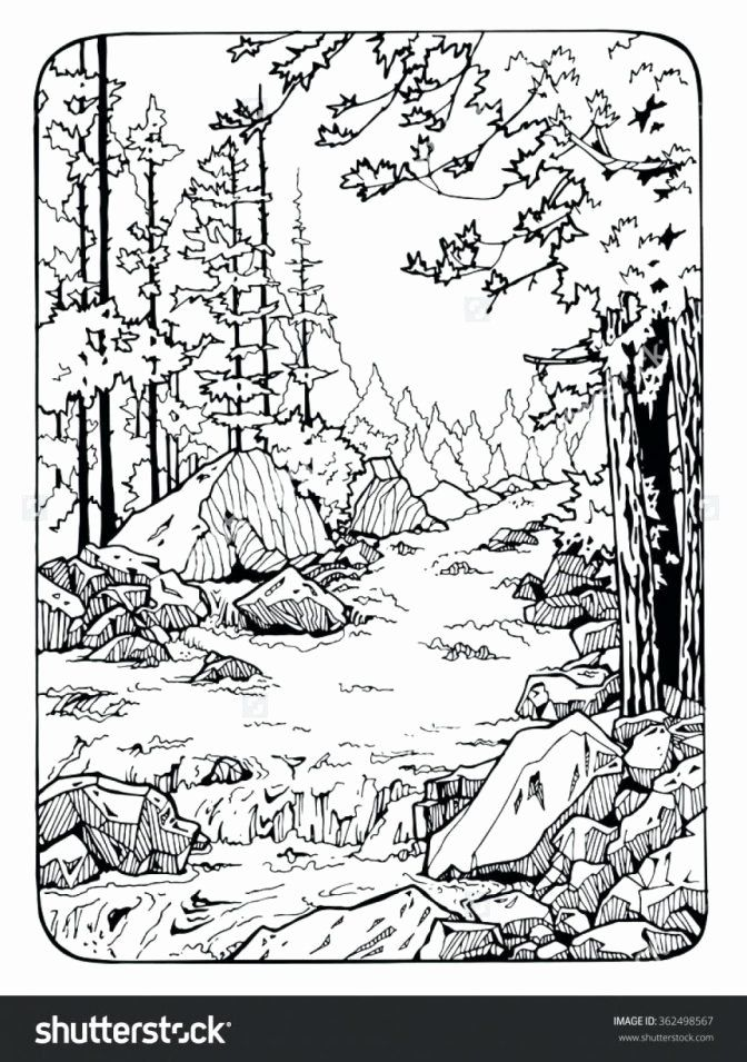 9cb52c2aad137256bbc398a86386f905 » Scenic Landscape Coloring Pages