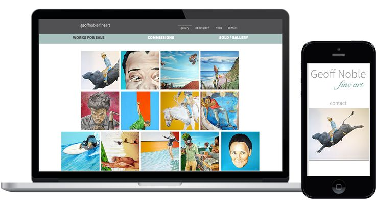 Nelson artist Geoff Noble showcases his art through a website created by the Design District.