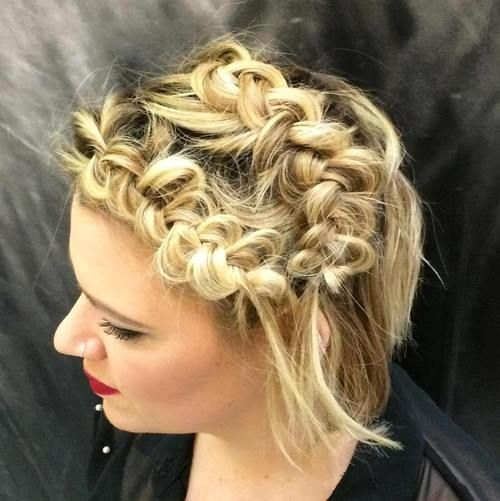 messy braids for short hair                                                                                                                                                                                 More