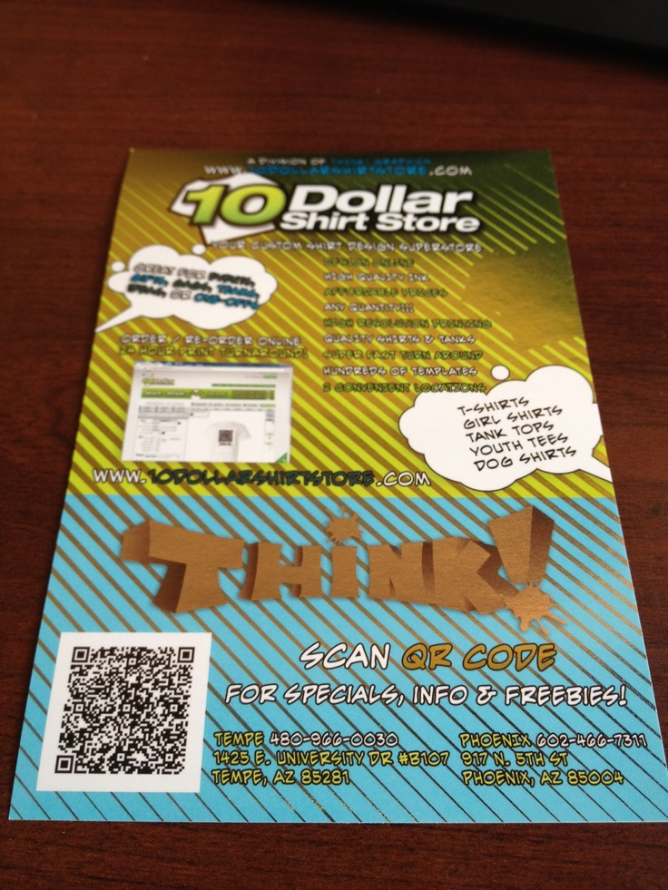 Ultra foil sticker - Think! Graphic 480-966-0030