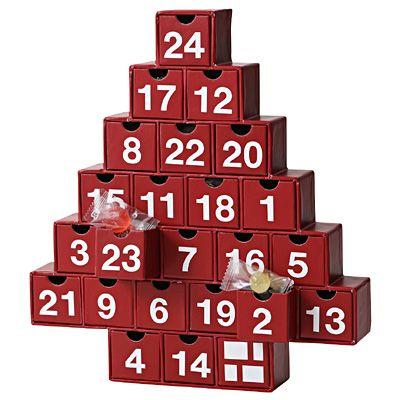 アドベントカレンダー ツリー  24種類のお菓子 赤 1セット | 無印良品ネットストア