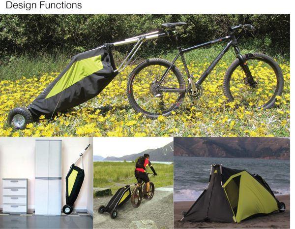 """Conheça """"The traveler"""" – a barraca para ciclo turistas"""