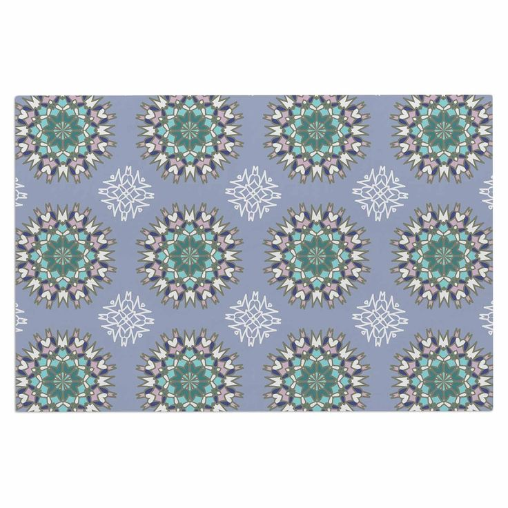 "Nika Martinez ""Princess In Purple"" Green Arabesque Decorative Door Mat"
