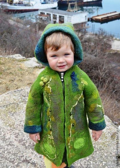 """Одежда для девочек, ручной работы. Ярмарка Мастеров - ручная работа пальто """"Гном"""". Handmade."""