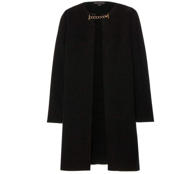 Burberry Prorsum Wool and Cashmere-Blend Coat (154.845 RUB) found on Polyvore featuring women's fashion, outerwear, coats, jackets, coats & jackets, burberry, black, wool and cashmere coat, burberry coat and wool cashmere coat