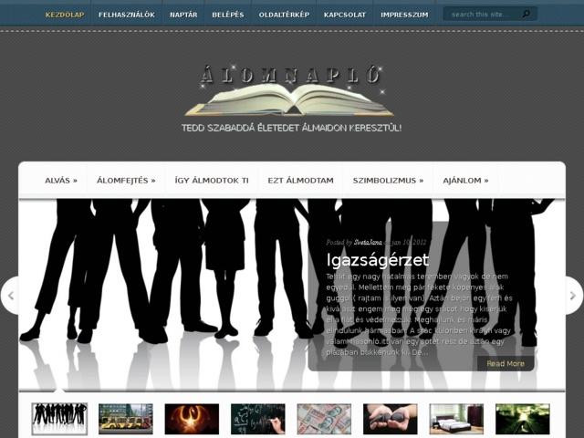 www.alomnaplo.hu; wordpress weboldal
