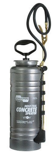 Chapin Industrial 3.5-Gallon Viton Concrete Open Head with Filter Sprayer 1979 by Chapin. $132.43. Wide mouth for easy filling and cleaning. Tri-poxy lined steel for triple protection against corrosion, rust and damage from denting. Crush resistant wand. Poly holster keeps wand and nozzles secure. Metal ergo handle. Amazon.com                Made with tri-poxy-lined steel, the Chapin 3-1/2-gallon industrial viton concrete open head sprayer with filter provides t...
