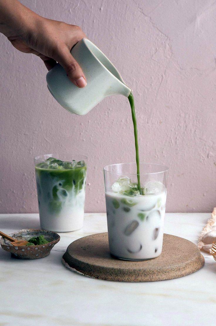 Matcha Iced Latte Ein einfaches Rezept einfaches latte
