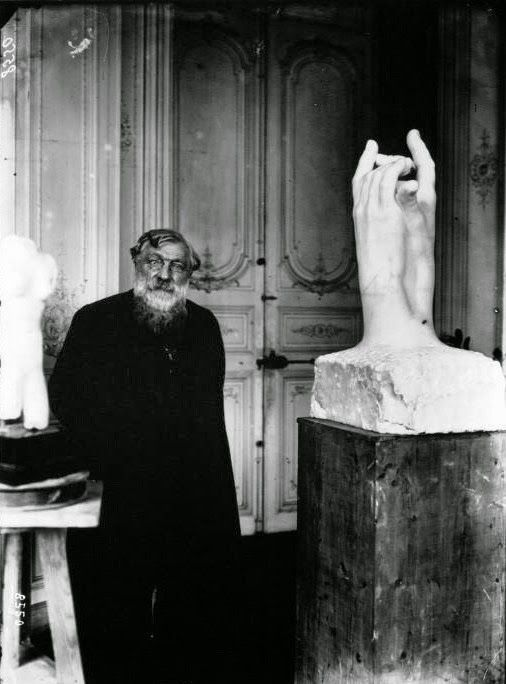 "Auguste Rodin ""...the head is everywhere"" ( MEANING YOU DON'T HAVE TO PUT IT ON THE SCULPTURE)  ONE OF MY FAVORITE QUOTES; OVERLAPS WITH YOGA PHILOSOPHY,"