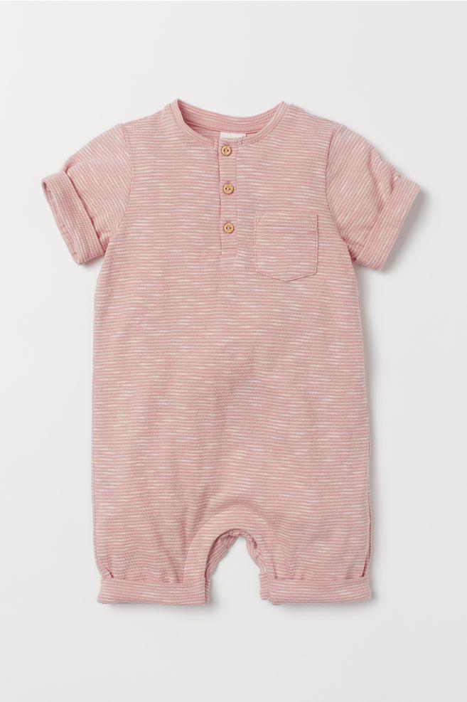 Bawełniany Kombinezon Pudroworóżowy Białe Paski Dziecko H M Pl Baby Boy Outfits Girls Clothes Shops Baby Girl Clothes