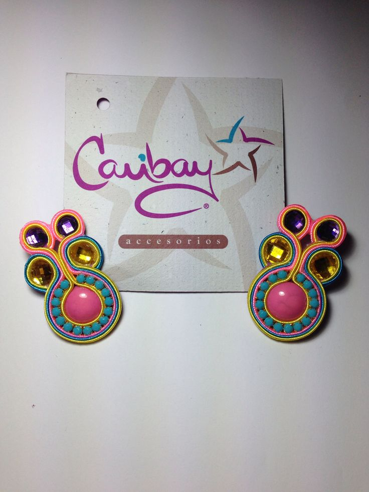 Zarcillos de Soutache Earrings Brincos