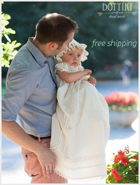 Christening Silk Gown, Baptism Dress, Baptism Gown, Christening Dress, Christening Silk Dress, Baby Girl Christening Dress, free shipping