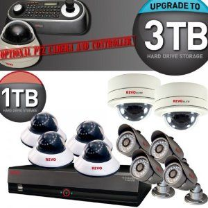 New! Revo Elite 16 Channel System w/ 8x 600 TVL Night Vision Bullets & Dome Cameras, Plus 2 Elite Mini Vandal Domes by Revo. $1199.99. New Revo America 16 Channel DVR (Series 4) R16DVR4 This DVR is UPGRADEABLE to a 3 TB HDD - Comes with a 1 TB HDD This DVR also supports the Revo Elite Controller - as well as a PTZ Dome Camera! REVO EZLinkTM is a new feature to automatically network your system to the internet. This allows your DVR to automatically notify you with Push Notificati...