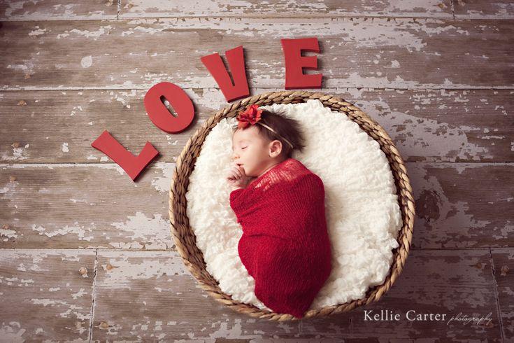 newborn picture idea for Valentine Baby