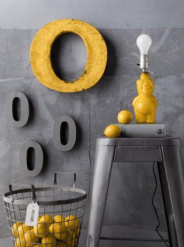 Love this Gray  Yellow Combo