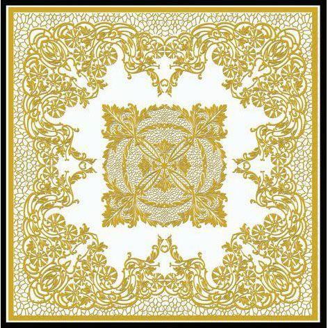Ковер золотой макраме Gold Macrame #carpets #rug #ковер #designer #interior