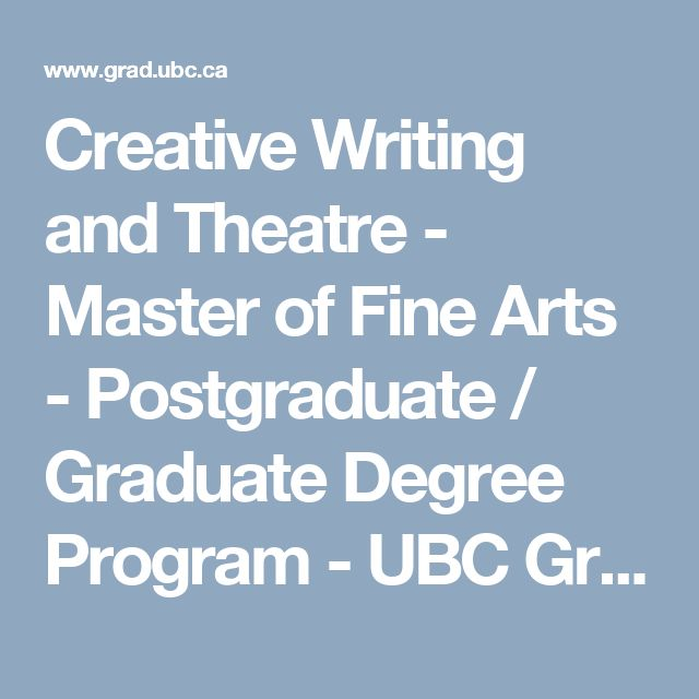 creative writing master of fine arts degree