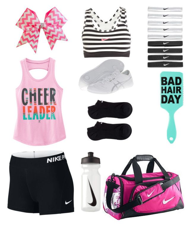 """Cheer Survival Kit"" by paigealewis on Polyvore featuring NIKE and Asics"