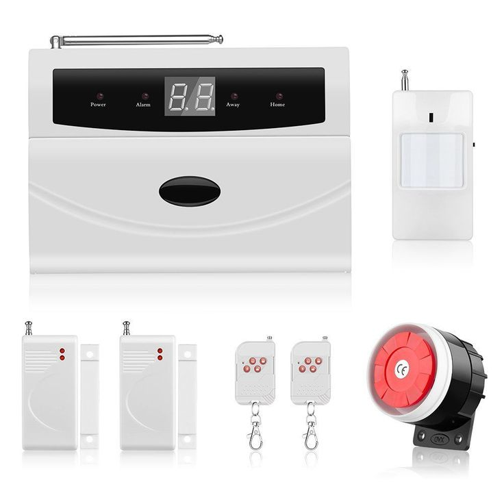 Home Alarm Security System, Thustar Wireless Home/House Business Security Alarm System, PSTN, Auto Dial, Remote Control,Motion Detectors, Wired Siren and More for Complete Security system #wirelesshomesecuritysystem