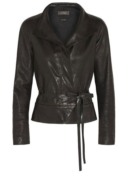 Isabel Marant leather wrap jacket
