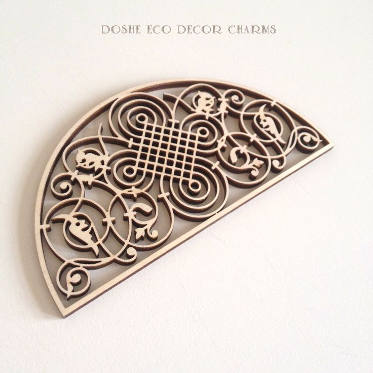 Gorgeous Laser cut wood ornamental detail 363 / Wood shapes / Best selling items / Popular / Wood laser cuts / Laser cut wood /Wood ornament by DosheEcoDecorCharms on Etsy