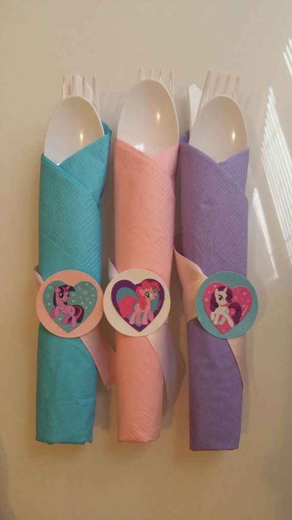 12 cutlery set my little pony theme by XamirasCreations on Etsy