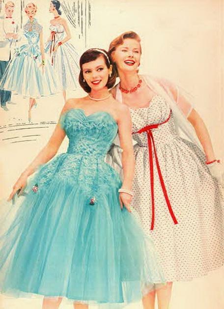 Party Dresses <3 1956